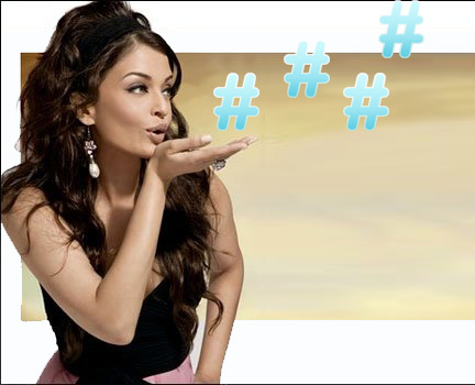 Sexy Woman blowing hashtag kisses