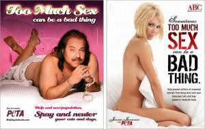 Jenna Jameson and Ron Jeremy PETA